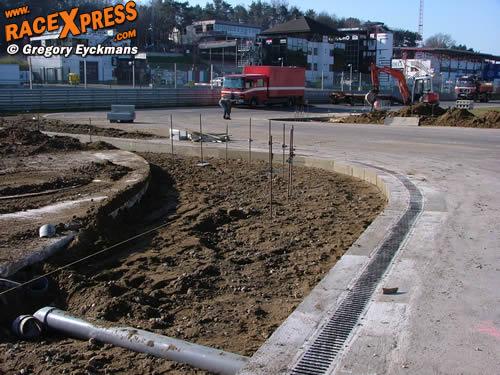 Foto s onderhoudswerken circuit zolder racexpress
