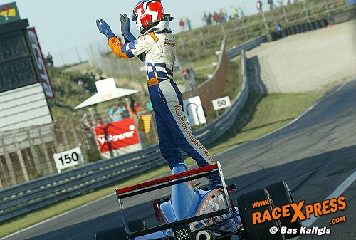 Junior Strous was succesvol in de Formule Renault 2.0