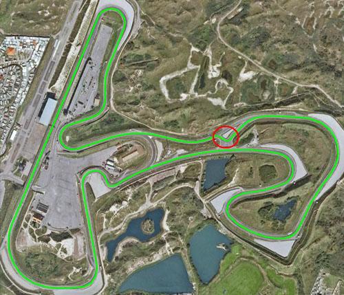 Circuito Zandvoort : Circuit park zandvoort met extra chicane tijdens wijzonol