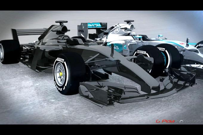 foto 39 s hoe gaan de formule 1 auto 39 s er vanaf 2017 uitzien racexpress. Black Bedroom Furniture Sets. Home Design Ideas