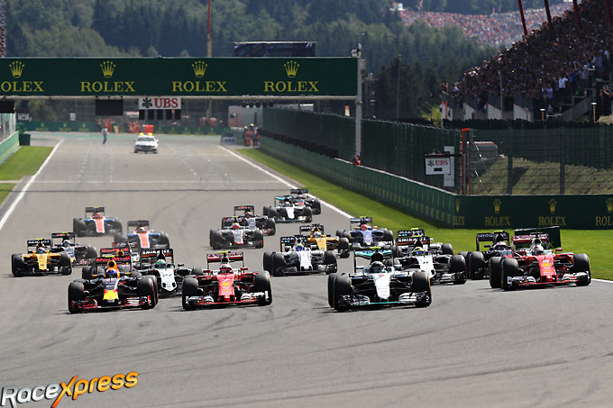 Start F1 GP Spa Francorchamps