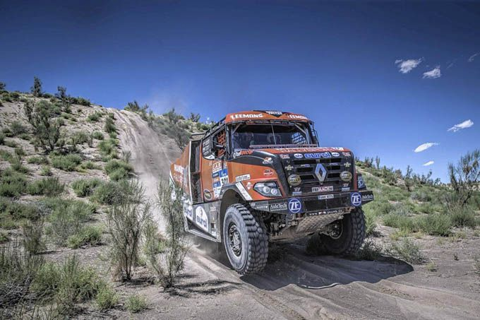 Dakar 2017 Van den Brink winner stage 2 trucks