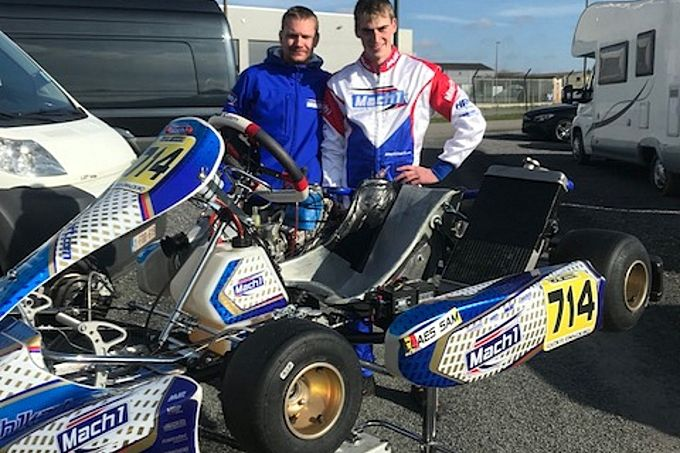 Sam Claes Mach 1-kart Delré Racing Team