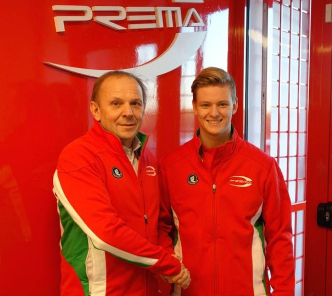 Mick Schumacher zoon van Michael Schumacher Prema Power