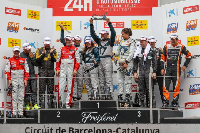 podium overall TCE 24H Barcelona