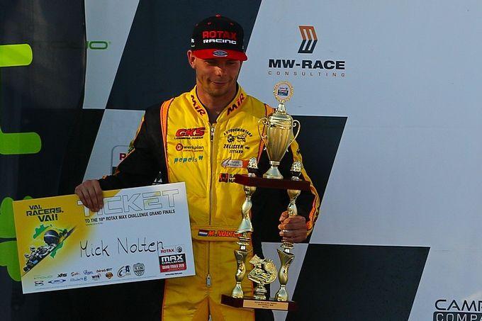 Mick Nolten vicekampioen van Europa en pakt felbegeerd ticket voor Rotax Max Challenge Grand Finals in Brazilië