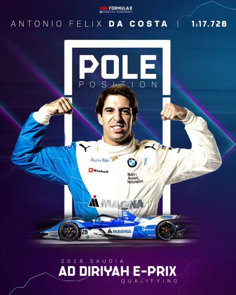 Felix da Costa pole-position Formula E