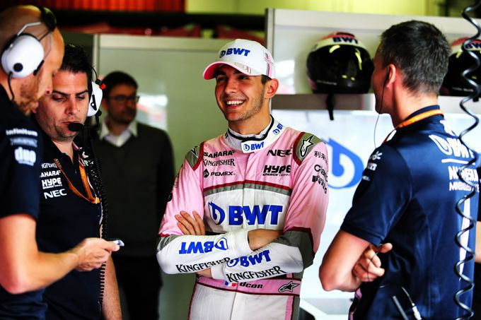 Esteban Ocon team Force India
