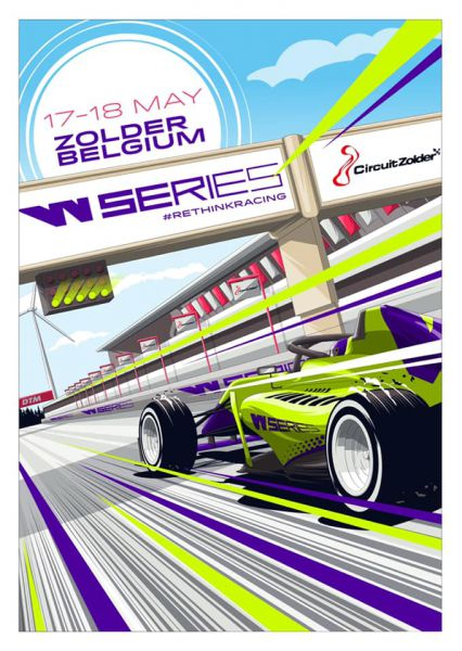 W-Series Zolder event poster
