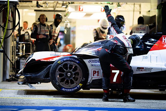24H of Le Mans crash Mike Conway #7 Toyota TS050 Hybrid