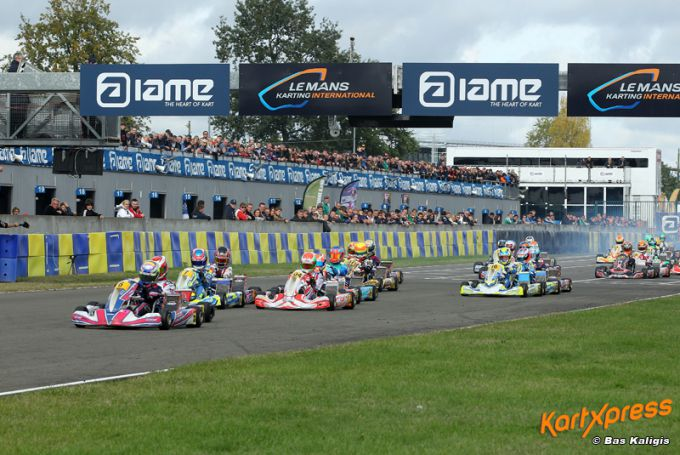 IAME International Final Le Mans: Oliver Bearman wint Junior race
