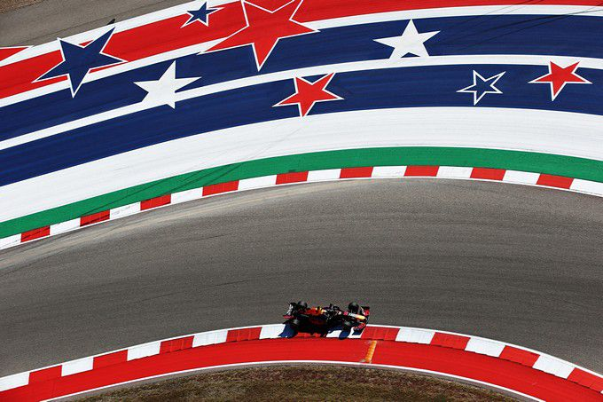 F1 USA stars and stripes Max Verstappen F1 Grand Prix van de Verenigde Staten Circuit of the Americas Red Bull