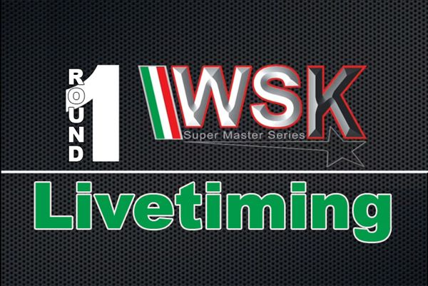 Live-timing race 1 WSK Super Master Series 2020 op Adria Karting Raceway
