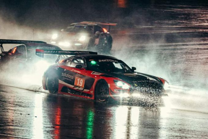 24H Dubai MP Motorsport Mercedes heavy rain