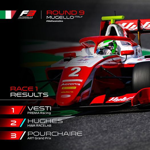 Top drie Formule 3 Mugello