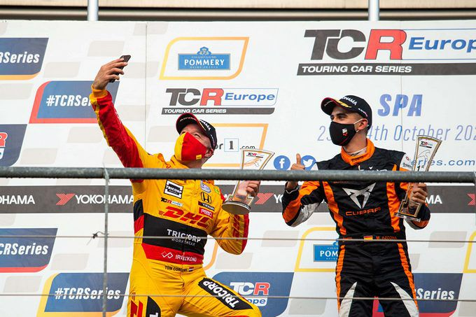 Tom Coronel Honda Type R TCR TCR Europe Spa Francorchamps Podium