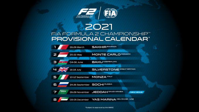 Kalenders 2021 FIA F2 en FIA F3: FIA Formule 3 in ...