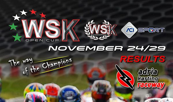 Results 2020 WSK Open Cup Race 1 and 2 Adria Karting Raceway Italy