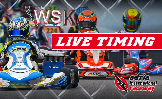 LIVE-TIMING WSK Champions Cup in Adria